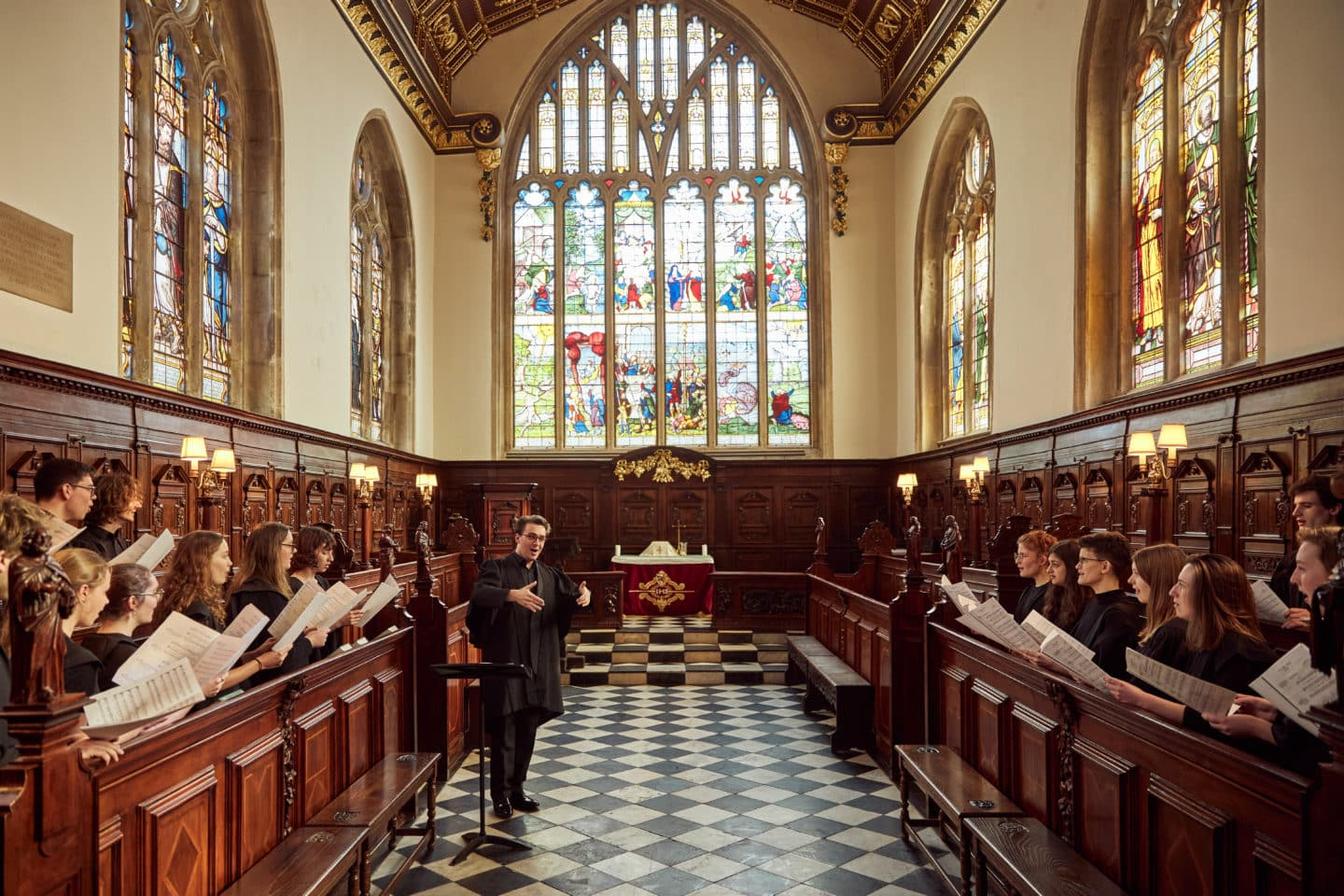 Choir and organ scholar in the Chapel