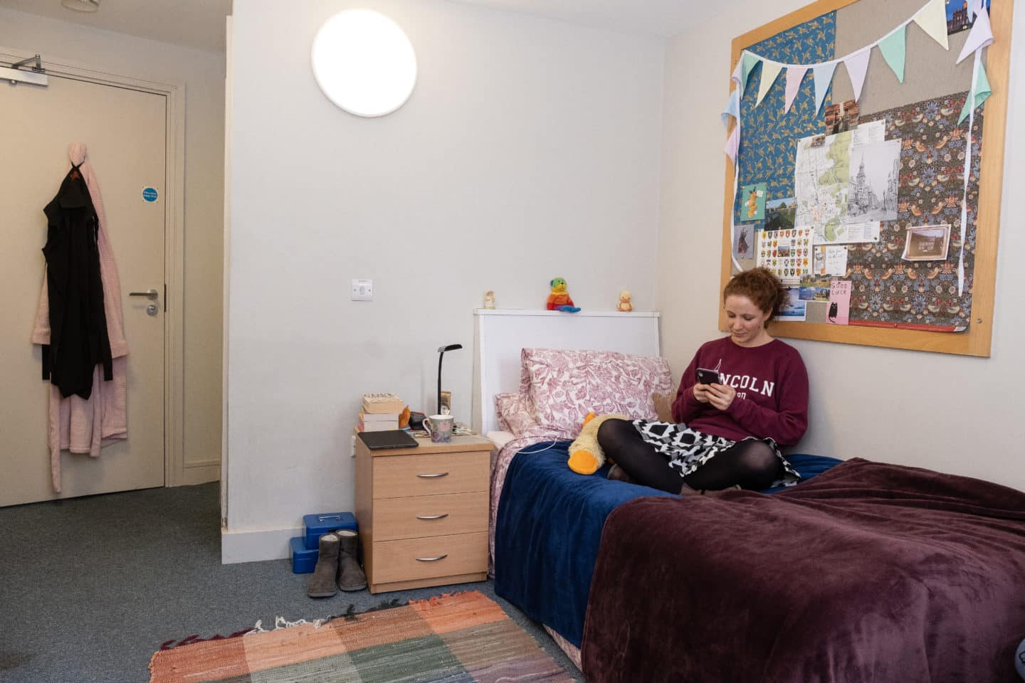 Graduate student bedroom in the EPA Centre