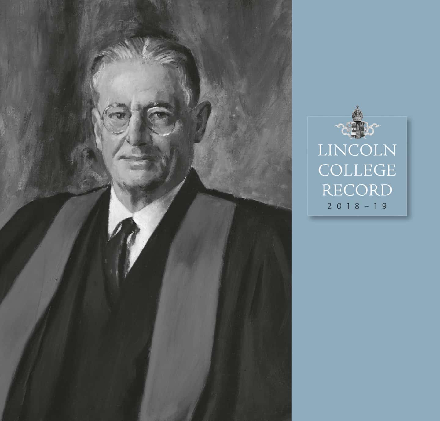 Front cover of the Lincoln College Record